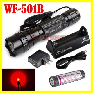 UltraFire WF 501B CREE LED Red Light Taschenlampe +1 x 18700 Akku