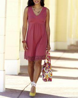 Damen Shirt Kleid Gr. 44 / 46 Himbeer Rot Hochzeit Feste   516