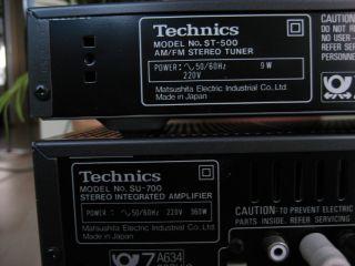Technics SU 700 ST 500 RS B 505 Hifi Anlage Amplifier Tuner Tape Deck