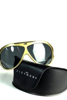 John Richmond Designer Luxus Sonnenbrille Gold NEU