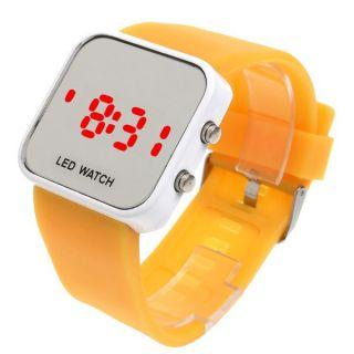 Luxury Sport Style LED Digital Date Lady Men Watch Mirror Surface