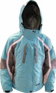 ICEPEAK Damen Skijacke Winterjacke, Gr: 40, blau/grau