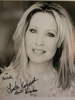 GF 529= Linda Kozlowski, TV International, Foto 20x25 cm, original