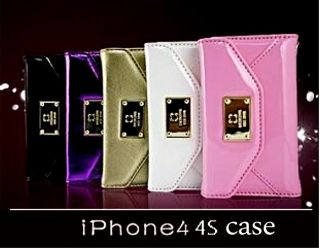 1X iPhone 4 / 4S Luxury Leather Wallet Clutch Card Slot Flip Case