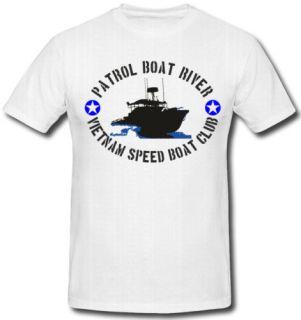 PBR US Army Vietnam Speed Boat Club T Shirt *534