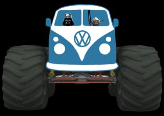 VW Kombi Van Monster Truck Star Wars T Shirt All Sizes