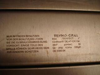 Tehno Perfect L Gasgrill (Schweizer Model) Edelstahl mit Beinen