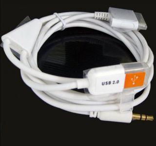 3in1 Audio Klinke+ Sync USB Kabel iPhone 4 iPad 2 iPod