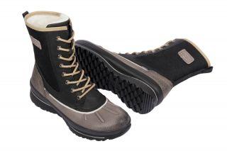 Paar Ecco Hill Stiefel braun schwarz Gore Tex Damen Warmfutter Boots