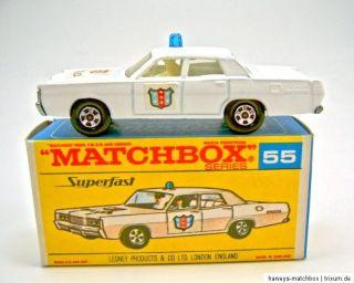 Matchbox Superfast Nr.55A Mercury Police Car blaue Leuchte top in G