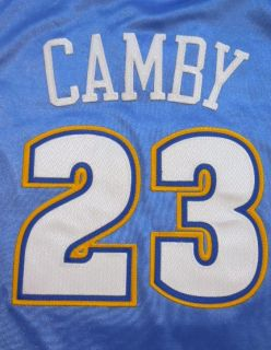 ADIDAS Authentic DENVER NUGGETS Marcus Camby NBA Basketball Jersey 52