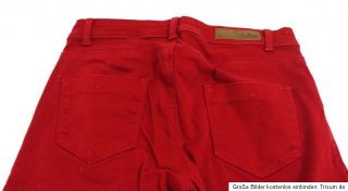 ZARA ♥ Hose Röhre Skinny Jeans ♥rot ♥Gr. 34 / XS ♥ S1508