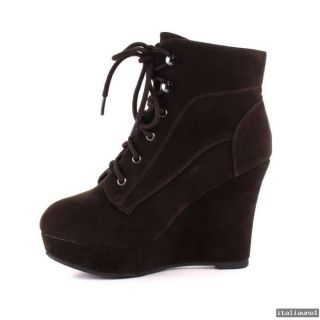NEU  Warmfutter High Heel Ankle Boots Keilabsatz Stiefelette 7860
