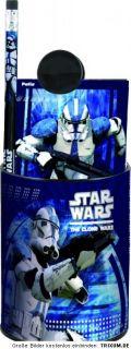 Teile Star Wars CLONE Schulset Stiftebox Schreibtisch