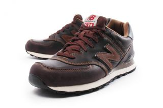 New Balance ML574 [ML574UKW] Claasic Running Leather Brown/Black