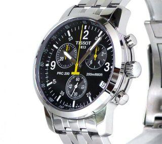 neu HERRENUHR watch Tissot PRC 200 T17 1 586 52 Chronograph SAPHIRGLAS