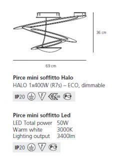 ARTEMIDE LAMPADA SOFFITTO PIRCE MINI BIANCO WHITE