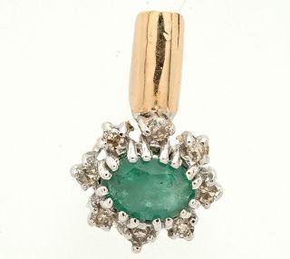 585 Diamant Smaragd Gold Anhaenger 0 70 Karat Goldschmuck