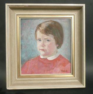 Ölgemälde Portrait von F. Mißfeldt Junge und Mädchen Bild original