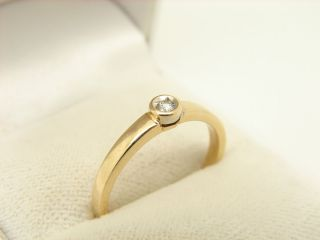 Solitaer Brillant Ring 585 Gold 14 kt Gelbgold Goldschmuck Schmuck