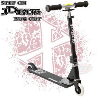 Tretroller JD Bug Pro Street Schwarz Matt V3.0 Cityroller Roller Auf