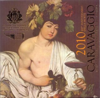 San Marino KMS (orig., nom. 8,88 Euro) 2010 mit 5 Euro GDM Caravaggio