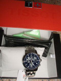 neu HERRENUHR watch Tissot PRC 200 T17 1 586 42 Chronograph SAPHIRGLAS