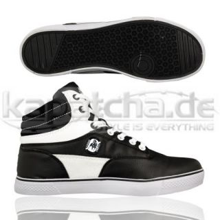 Hood Star Shoe Schuhe Hot Dog High Sneaker Schwarz Weiß Kapatcha in
