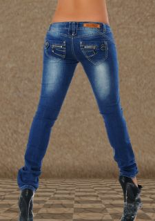 blue crazy age damen jeans hose 36 w26 pink tattoo sexy miss. Black Bedroom Furniture Sets. Home Design Ideas