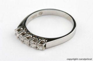 Brillantring 585 Weißgold 14 kt. Ring mit Brillanten Diamanten