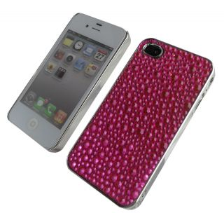 UNIQUE PINK SPARKLY BLING DIAMANTE / DIAMOND CASE COVER FOR IPHONE 4G
