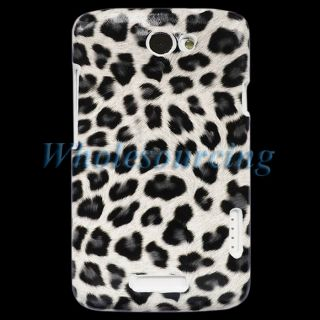 Stylish Leopard Hard Cover Case For HTC ONE X S720E