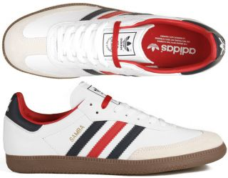 Adidas Originals Samba white/blue/red weiß blau rot gazelle spezial