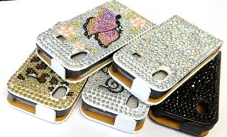 Samsung Galaxy ACE S5830 STRASS ETUI leder tasche cover hard Case