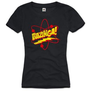 BAZINGA The Big Bang Theory Damen T Shirt Vintage neu Sheldon XS S M