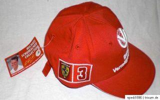 Baseballcap Base Cap Mütze Michael Schumacher Ferrari DVAG official
