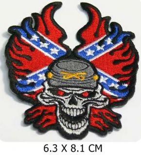 MP034 Rocker TOTENKOPF FLAMMEN,Rebel Motorrad PATCH