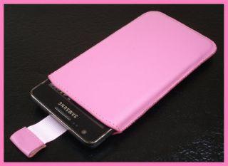 Echt Leder Tasche LG Prada 3 P940 Schutz Hülle Etui Handy Case Pink
