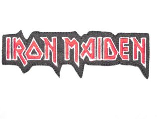 IRON MAIDEN Red Logo Iron On Patch FREE SHIPPING