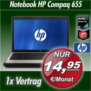 hp Laptop Notebook 635 Dual Core  Nur 14,95€ Fixkosten
