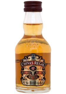 Chivas Regal 12 Years Old Scotch Whisky Miniature 5cl   50ml   Whiskey