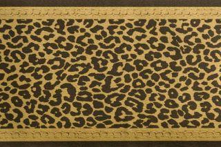 ROLLEN Tapeten Bordüre Leopard Schwarz/Gold EXKLUSIV