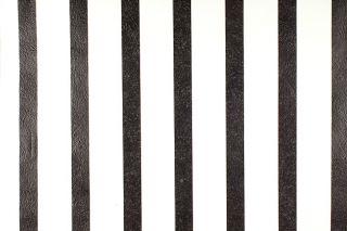 ROLLEN Kupfertiefdruck Tapete Streifen Schwarz Weiss