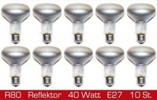 10 x stella Philips Reflektor Glühbirne Spot R80 40W 40 Watt