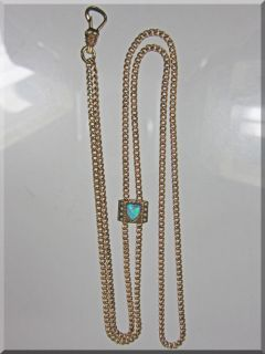 Co. Gold Filled PocketWatch Chain W/14K Slide