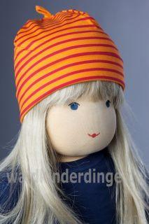 finkid HITTI Ringel Mütze orange/red mit orangenem Zipfel + GRATIS
