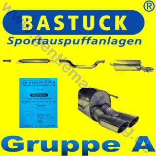 BASTUCK GRUPPE A SPORT ANLAGE OPEL ZAFIRA B 2x76