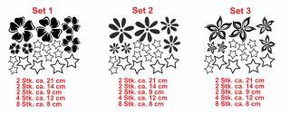 E136 Blüten Sterne Blumen Set Auto Sticker Aufkleber