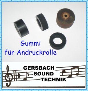 Gummi erneuern Andruckrolle Pinch roller Saba TG 674