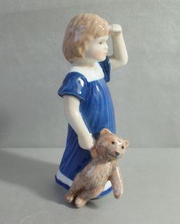 Copenhagen Mädchen mit Teddy Else Mod. 676 1.Wahl Porzellan Figur
